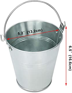 Hisencn Wood Pellet Grill Drip Grease Bucket Replacment Parts for Grill/Smoker - Traeger HDW152 & Pit Boss & Camp Chef BBQ Grills Galvanized Steel Pail with Handle