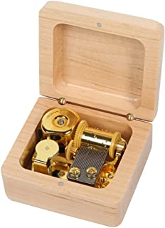 YJXUSHYQ Music Box Music Box Kanon Wooden Music Box, Gift, Tone Pure Music Box Walnut Walnut Wood (Color : Maple, Size : I Will Always Love You)