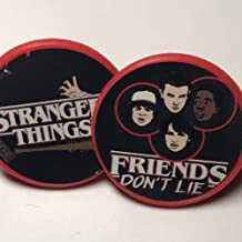 Stranger Things Cupcake Toppers Party Favors - Set of 20 red rings
