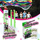 WOWMAZING Giant Bubble Powder Kit & Giant Bubble Powder Mix   Makes 9 GALLONS   Turns Dish Detergent into Big Bubbles   Non Toxic Safe & Natural   Birthdays,Outdoor Family Fun for Girls & Boys