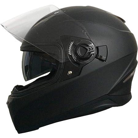 Integralhelm Helm Motorradhelm Rollerhelm Rallox 09b Größe S Matt Schwarz Mit Sonnenvisier Auto