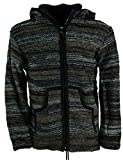 GURU SHOP Strickjacke Wolljacke Nepaljacke Batik Schwarz, Herren, Modell 24, Wolle, Size:S, Jacken, Strickjacken, Ponchos Alternative Bekleidung