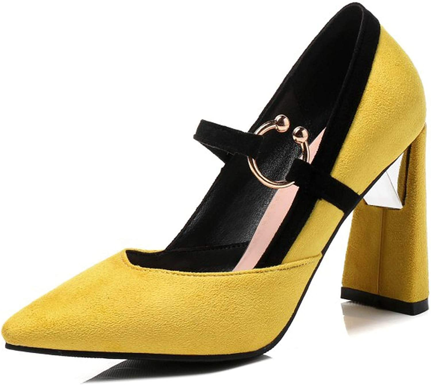Party high Heels Big Size 33-46 Pointed Toe Metal Decoration Women shoes