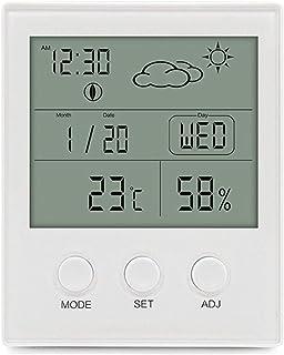 XYXZ Higrómetro Digital Termómetro Estación Meteorológica Pronóstico Interior Exterior Humedad Temperatura Medidor De Hume...