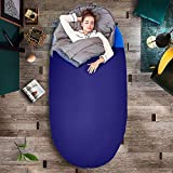 Three Donkeys XXL Sleeping Bags for Camping; Machine Washable,Warm,Comfortable,Lightweight,Portable; Great for Family & Adults,Indoor & Outdoor,Backpacking,Hiking with Compression Sack (Dark Blue)