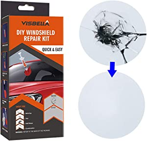 Visbella Windshield Repair kit DIY Car Window Repair polishing Windscreen Glass Renewal Tool Fix Auto Glass Windshield Crack Chip Scratch  paper