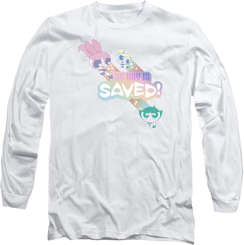 48a0436e8 Powerpuff Girls - - - Mens The Day is Saved Long Sleeve T-Shirt 46132c