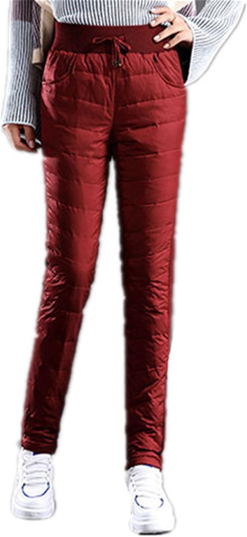 David Salc Women's Winter Down Pants Warm Plus Size Black Trouser For Woman Thick Pantalon Loose Casual Pants