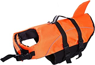 Large Dog Life Jacket ,Dogs Life Vests For Swimming Extra Large,Puppy Float Coat Swimsuits Flotation Device Life Preserver Belt LifesaverFlotation Suit For Pet Bulldog LabWith Reflective Strap