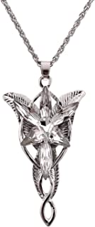 lureme Fairy Princess Arwen Silver Tone Zirconia Wings Pendant Necklace for Women and Girls(a1000004)