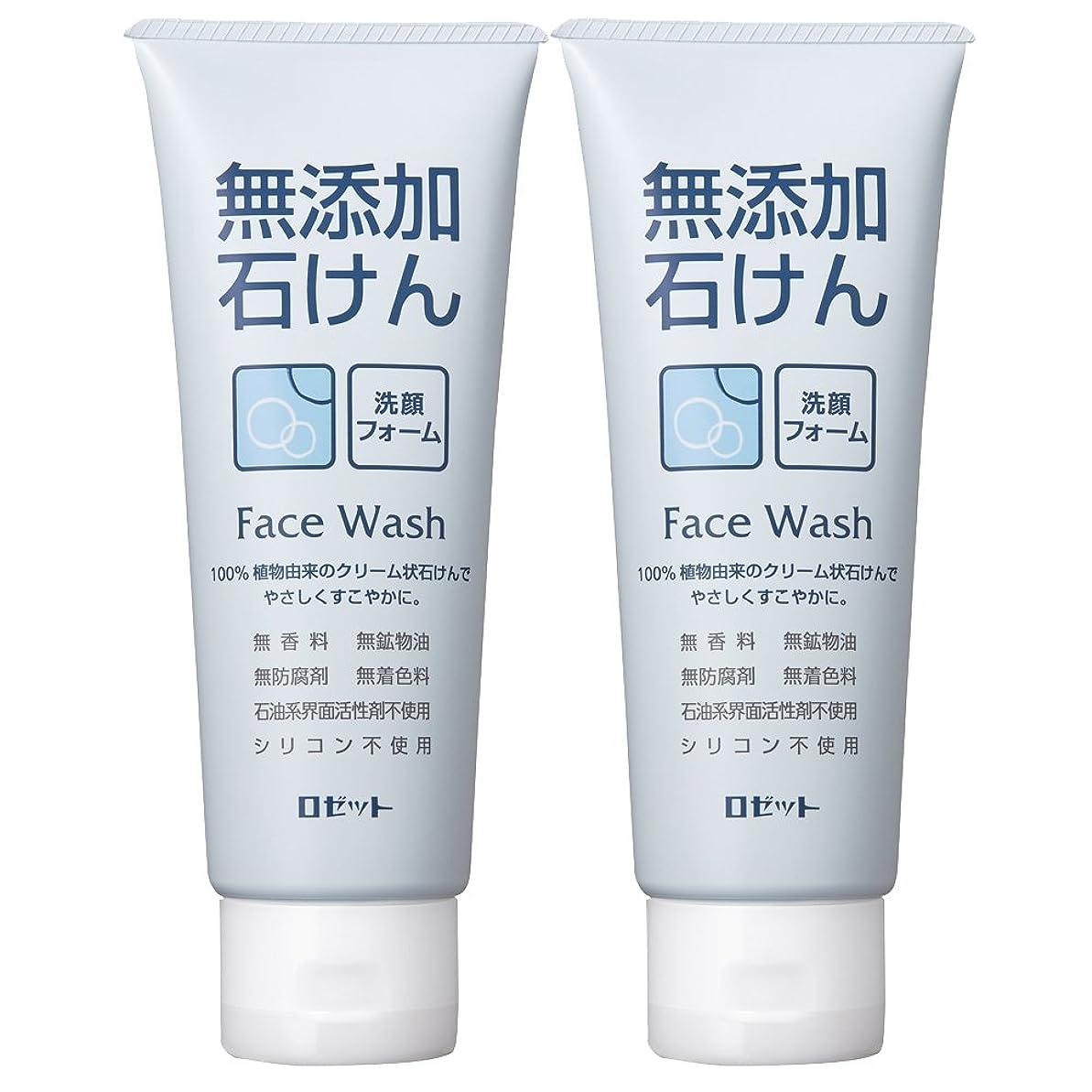 行き当たりばったり手コンパスロゼット 無添加石けん 洗顔フォーム 140g×2個パック AZ