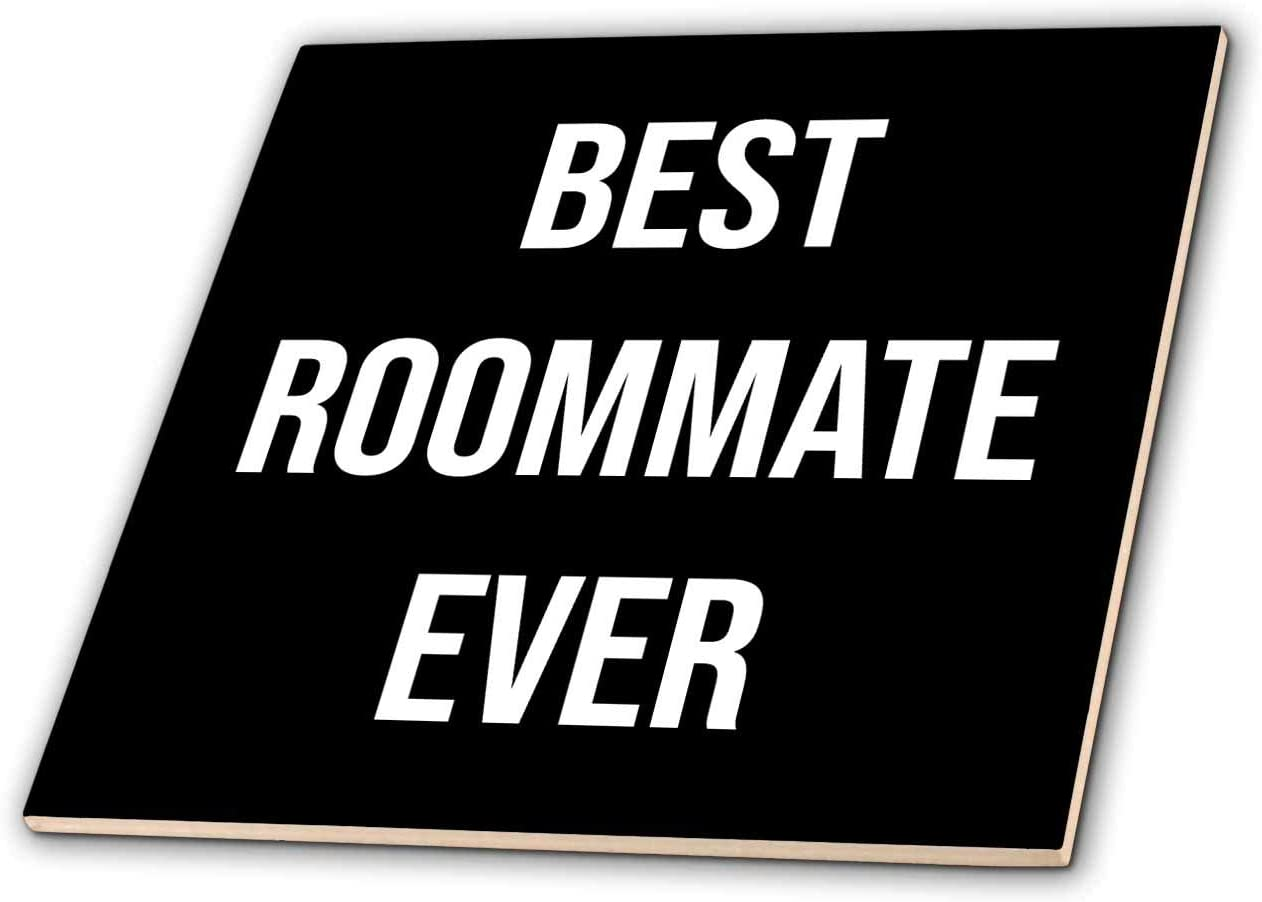 Excellent 3dRose Stamp City - typography white Popular popular Bold Ever. Best Roommate