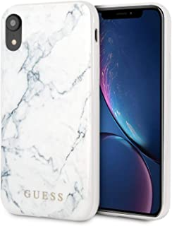 CG Mobile Guess Phone Case for iPhone 8 Plus and iPhone 7 Plus Hard Case PC/TPU with Marble Design White   Easy Snap-On   ...