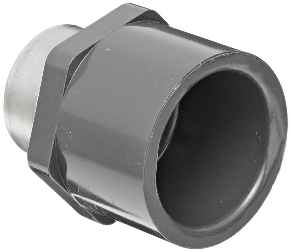 Spears 836 Series PVC Pipe Fitting Adapter 2 Socket x NPT Male New Schedule 80