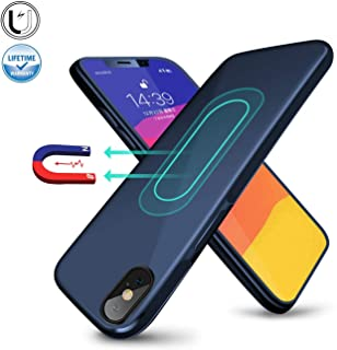 Magnetic Case for iPhone 7/8,[Invisible Built-in Metal Plate] Ultra Thin Support Magnetic Car Mount,Soft TPU Shockproof Anti-Scratch 360 Protective Cover for iPhone 7/8 4.7'' Blue