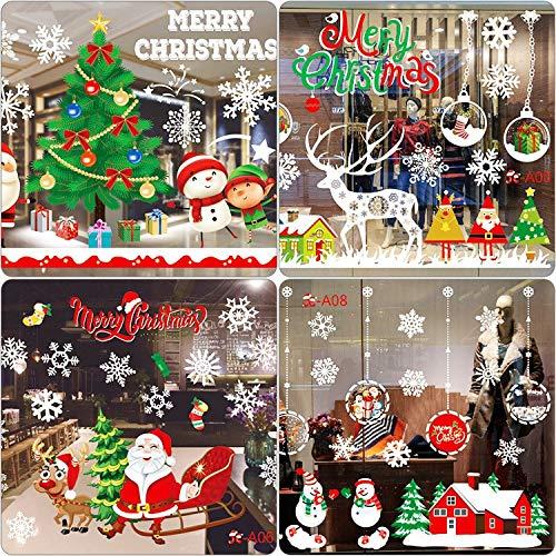 BLOUR Ausverkauf Frohe Weihnachten Wandaufkleber Mode Weihnachtsmann Fenster Raumdekoration PVC Vinyl Neujahr Home Decor Abnehmbar