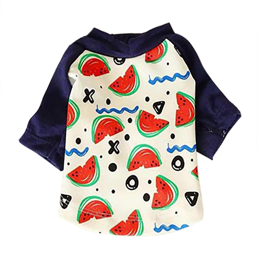 OOEOO Doggie Summer Watermelon Print Polo T Shirts Style Sun Protection Pet Air Conditioning Clothes