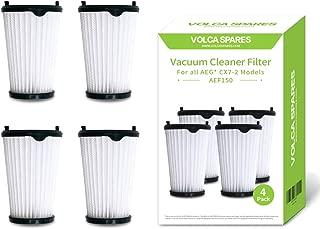 Volca - Juego de 4 filtros de repuesto para aspiradoras AEG AEF150, para todos los modelos CX7-2 y HX6