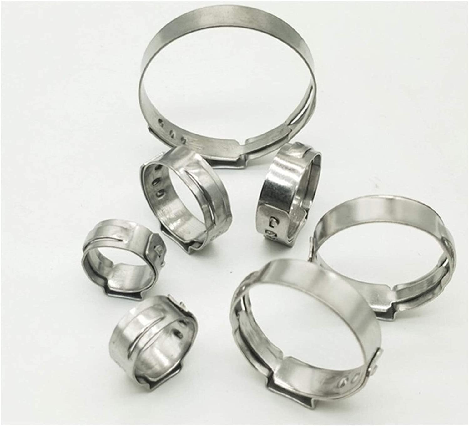 Pipe Tube Many popular brands Clips Big Size Al sold out. for Choose Stainless 10PCS Clamp