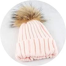 Kids Boys Girls Warm Fleece Liner Beanie Hat with Scarf Winter Fur Hats for Children Baby