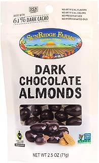 SunRidge Farms EnergyGO Fair Trade Dark Chocolate Almonds NonGMO, 2.5 Ounce Bag (Pack of 8)