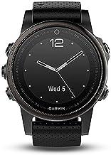 Garmin Fnix 5S GPS-horloge, multisport, outdoor, roestvrij staal, armband, siliconen zwart