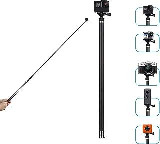 TELESIN Carbon Fiber Lightweight Selfie Stick Extendable at