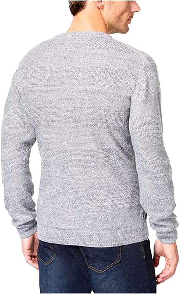 Weatherproof Mens Textured Striped Pullover Sweater