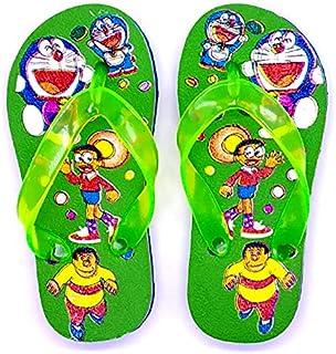 BUTAX Doraemon Printed Flip Flop Slippers for Boys & Girls (Colour: Green)