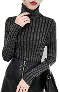Sweater Pullover Knitted Winter Cashmere Sweaters Womens Jumpers Basic Tops Black,X-Large,Black