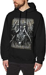 COOLSUNTEE Dimmu Borgir Funny Mens Sweater Hooded Sweatshirt Black