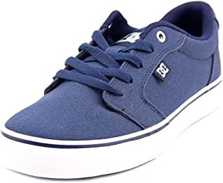DC Men's Anvil TX Skate Sneakers, Navy Canvas, 7.5 D