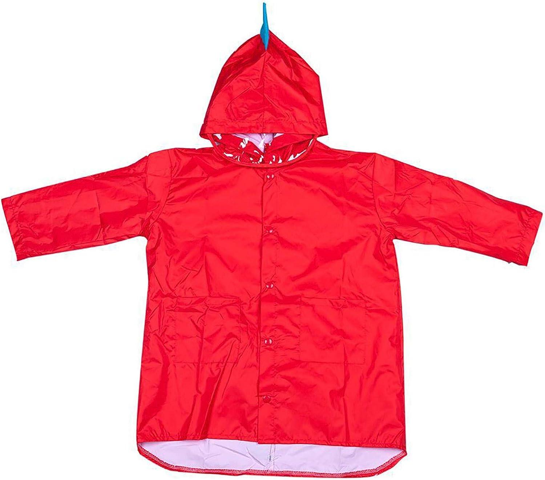 Kids Rain Poncho Hooded Jacket Rain Coat Three-Dimensional Dinosaur Lightweight Windbreakers Outdoor Cycling Raincoat