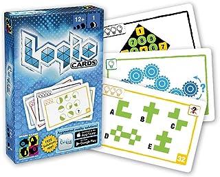 BRAIN GAMES Logic Cards Blue - Math Brain Teaser Card Game for Kids, Teenagers and Adults - Award Winning Family Fun!