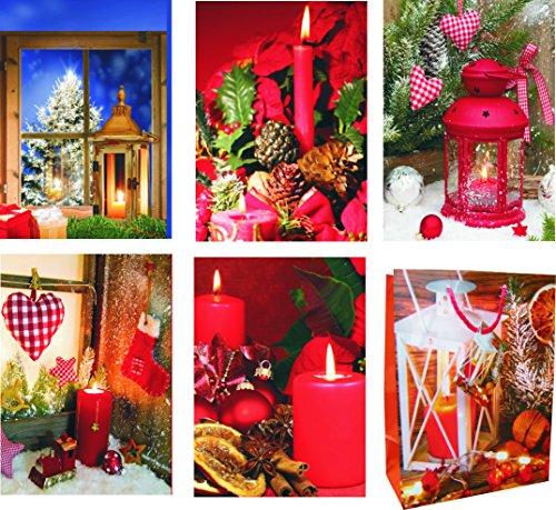 K&B Vertrieb Pochettes cadeaux medium (moyen) – K & B Distribution de Noël sacs sac de Noël sacs cadeaux noël 7303 (96 pièces)