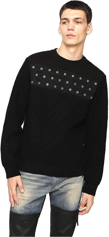 Diesel K Rushis Mens Pullover Sweater Black (L)