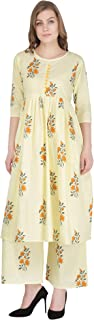 Decot Paradise Women's Cotton Flared Salwar Suit Set
