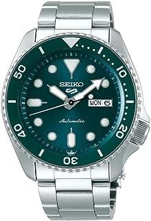 ساعة فيسليفت مقاومة للماء بعمق 10 بار مع وظيفة تقويم بلون زمرد اخضر للرجال من سيكو 5 SRPD61K1