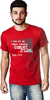 Living Water Men's I Can Do All Things Through Chirst Strength T-Shirt God