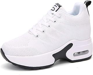 AONEGOLD Femmes Baskets Compensées Chaussures de Course Sport Sneakers Respirant Plateforme Air