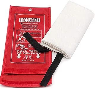 Manta De Fuego De Fibra De Vidrio De 1 Pieza Manta De Emergencia De Fuego Protección Ignífuga Cubierta De Seguridad De Supervivencia De Emergencia Para Cocina, Chimenea, Automóvil, Oficina (1X1M)