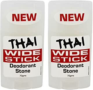 Thai Crystal Deodorant Stone Wide Stick Deodorant Stone 2 Pack