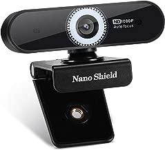 Auto Focus Webcam 1080P Nano Shield N920 Web Camera Noise Cancelling Microphone, Skype Web Cam Full HD for PC Laptop Computer, USB Plug Play for Windows 10/8 / 7 Mac OS X, Wide Angle Autofocus