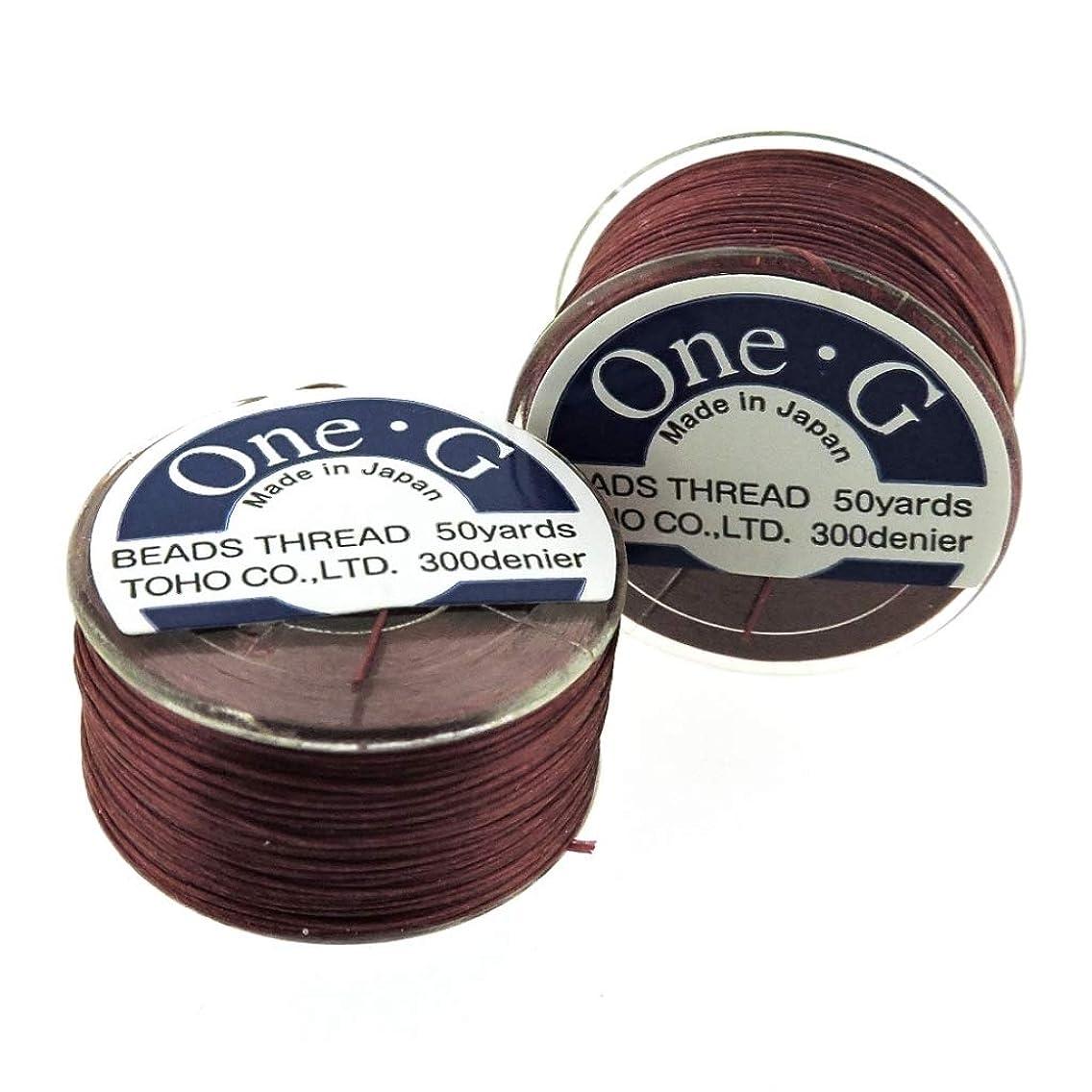 Toho One-G Beading Thread, 50 Yard Bobbin (Burgandy)