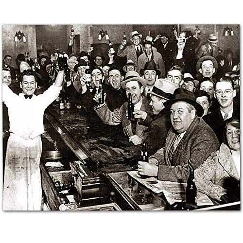 The Night Prohibition Ended - 11x14 Unframed Art Print - Makes a Great Man Cave and Bar Decor Under $15