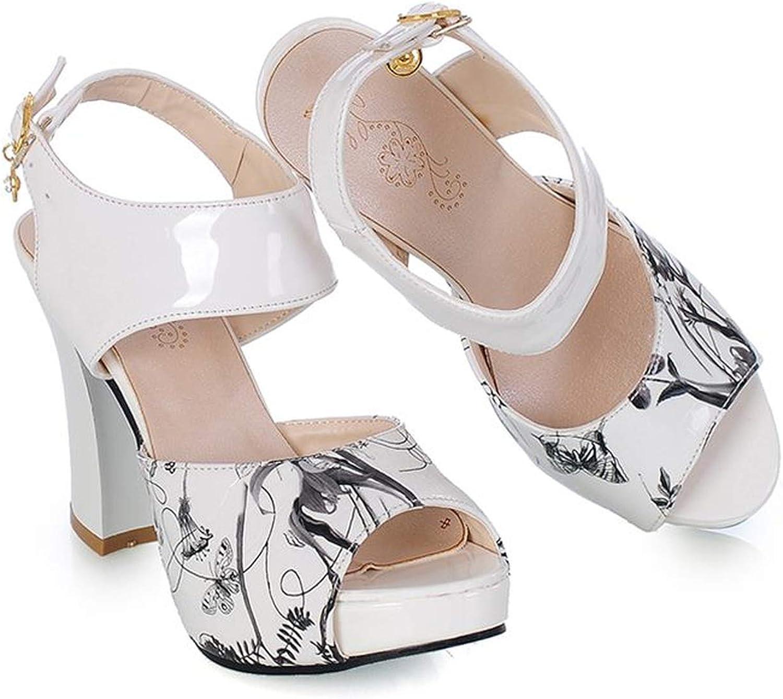Des sandales de Storlek 34 - 43 avec des talons d 'été épais,
