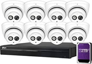 Dahua 8CH 6MP PoE Home Security Camera System, 8pcs 6MP Outdoor PoE IP Cameras with Build in MIC, 4K 8-Channel NVR (NVR410...