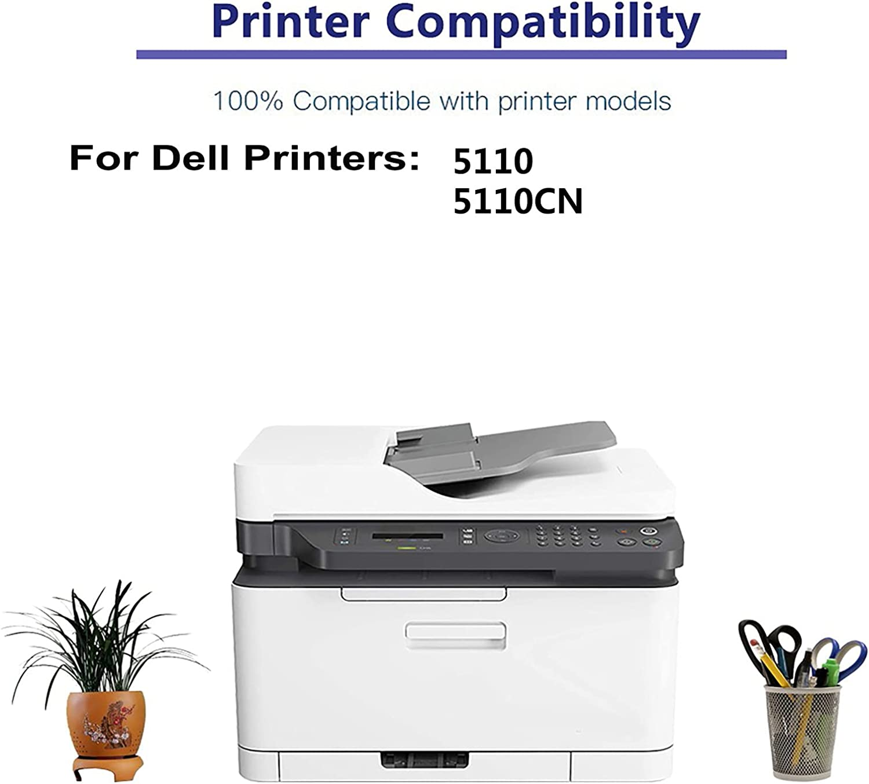 2-Pack (Magenta) Compatible 5110, 5110CN Printer Toner Cartridge High Capacity Replacement for Dell 310-7894 Toner Cartridge
