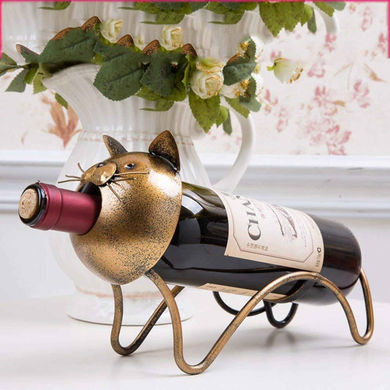 Red Wine Shelf Creative Wine Bottle Holder [Iron] European Style Stylish [Decoration] Wine Shelf [Household] [Restaurant] Kitchen Bar Pub Senior Wine Rack,A (color   A)