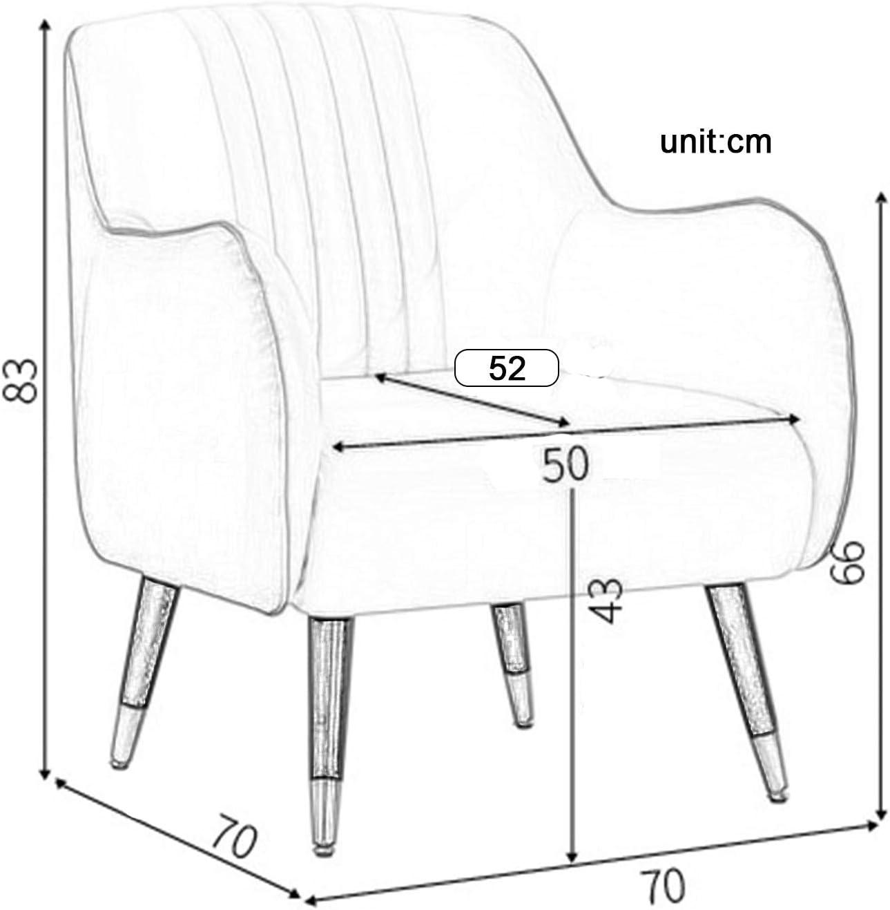 Petit Appartement Canapé Chaise De Dos De Loisirs Simple Pied-de-Poule Coton Lin Coussin Maison Fauteuil 1104S(Color:ré) Ré